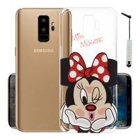 "Samsung Galaxy S9+/ S9 Plus 6.2"": Coque Housse silicone TPU Transparente Ultra-Fine Dessin animé jolie + mini Stylet - Minnie Mouse"