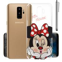 "Samsung Galaxy S9+/ S9 Plus 6.2"": Coque Housse silicone TPU Transparente Ultra-Fine Dessin animé jolie + Stylet - Minnie Mouse"