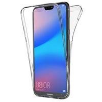 """Huawei P20 Lite/ Nova 3e 5.84"""" (non compatible Huawei P20/ P20 Pro): Coque Housse Silicone Gel TRANSPARENTE ultra mince 360° protection intégrale Avant et Arrière - TRANSPARENT"""