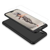 """Huawei P20 5.8"""" (non compatible Huawei P20 Pro/ P20 lite): Coque de protection intégrale 360° Avant Et Arrière Ultra Mince Ultra Léger avec Verre Trempé pour l'Ecran - NOIR"""