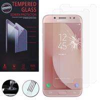 """Samsung Galaxy C7 (2017) 5.5""""/ J7 Plus/ Galaxy C8 C710F/DS C7100 (non compatible avec Version Galaxy C7/ C7 Pro 5.7""""): Lot / Pack de 2 Films de protection d'écran Verre Trempé"""