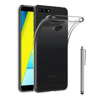 """Huawei Honor 7A (2018) 5.7"""": Accessoire Housse Etui Coque gel UltraSlim et Ajustement parfait + Stylet - TRANSPARENT"""