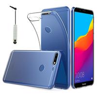 """Huawei Y7 Pro (2018) 5.99"""": Accessoire Housse Etui Coque gel UltraSlim et Ajustement parfait + mini Stylet - TRANSPARENT"""