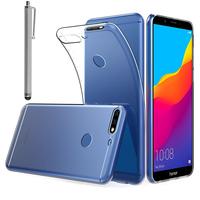 """Huawei Y7 Pro (2018) 5.99"""": Accessoire Housse Etui Coque gel UltraSlim et Ajustement parfait + Stylet - TRANSPARENT"""