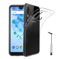 """Wiko View2 Pro 6.0"""" (non compatible Wiko View 2 6.0""""): Accessoire Housse Etui Coque gel UltraSlim et Ajustement parfait + mini Stylet - TRANSPARENT"""