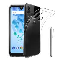 """Wiko View2 Pro 6.0"""" (non compatible Wiko View 2 6.0""""): Accessoire Housse Etui Coque gel UltraSlim et Ajustement parfait + Stylet - TRANSPARENT"""