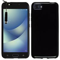 """Asus Zenfone 4 Max ZC520KL 5.2"""" (non compatible Zenfone 4 Max ZC554KL 5.5""""): Housse Coque TPU Silicone Gel Souple Translucide Ultra Fine + mini Stylet - NOIR"""