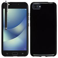 """Asus Zenfone 4 Max ZC520KL 5.2"""" (non compatible Zenfone 4 Max ZC554KL 5.5""""): Housse Coque TPU Silicone Gel Souple Translucide Ultra Fine + Stylet - NOIR"""
