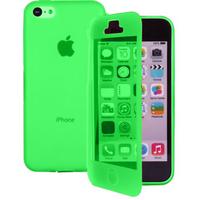 Apple iPhone 4/ 4S/ 4G: Accessoire Coque Etui Housse Pochette silicone gel Portefeuille Livre rabat - VERT
