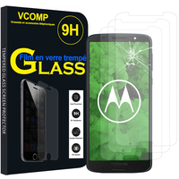 "Motorola Moto G6 Plus 5.9"" (non compatible G6/ G6 Play 5.7"")Motorola Moto G6 Plus 5.9"": Lot / Pack de 3 Films de protection d'écran Verre Trempé"