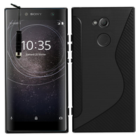 "Sony Xperia XA2 Ultra/ XA2 Ultra Dual 6.0"" H3213 H3223 H4213 H4233: Accessoire Housse Etui Pochette Coque Silicone Gel motif S Line + mini Stylet - NOIR"