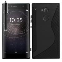 "Sony Xperia XA2 Ultra/ XA2 Ultra Dual 6.0"" H3213 H3223 H4213 H4233: Accessoire Housse Etui Pochette Coque Silicone Gel motif S Line + Stylet - NOIR"