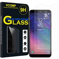 """Samsung Galaxy A6 (2018) 5.6""""/ A6 2018 Dual SIM (non compatible Galaxy A6+/ A6 Plus (2018) 6.0""""): Lot / Pack de 2 Films de protection d'écran Verre Trempé"""