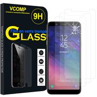 """Samsung Galaxy A6 (2018) 5.6""""/ A6 2018 Dual SIM (non compatible Galaxy A6+/ A6 Plus (2018) 6.0""""): Lot / Pack de 3 Films de protection d'écran Verre Trempé"""