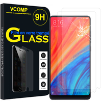 "Xiaomi Mi Mix 2S 5.99"" (non compatible Xiaomi Mi Mix 2 2017): Lot / Pack de 2 Films de protection d'écran Verre Trempé"