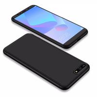 """Huawei Y6 (2018) 5.7"""" (non compatible Huawei Y6 (2017) 5.0""""): Coque de protection intégrale 360° Avant Et Arrière Ultra Mince Ultra Léger avec Verre Trempé pour l'Ecran - NOIR"""