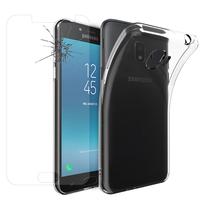 """Samsung Galaxy J2 Pro (2018) SM-J250F/ Galaxy Grand Prime Pro (2018) 5.0"""": Etui Housse Pochette Accessoires Coque gel UltraSlim - TRANSPARENT + 1 Film de protection d'écran Verre Trempé"""