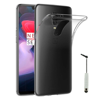 "OnePlus 6 6.28"": Accessoire Housse Etui Coque gel UltraSlim et Ajustement parfait + mini Stylet - TRANSPARENT"
