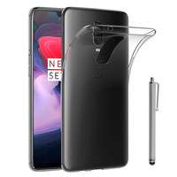 "OnePlus 6 6.28"": Accessoire Housse Etui Coque gel UltraSlim et Ajustement parfait + Stylet - TRANSPARENT"