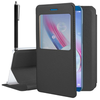 """Huawei Honor 9 Lite 5.65""""/ AL00/ AL10/ TL10/ Honor 9 Youth Edition: Etui View Case Flip Folio Leather cover + Stylet - NOIR"""