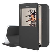 "Huawei P20 5.8"" (non compatible Huawei P20 Pro/ P20 lite): Etui View Case Flip Folio Leather cover - NOIR"