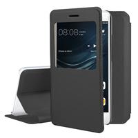 Huawei P9 lite/ G9 Lite (non compatible Huawei P9/ P9 Plus): Etui View Case Flip Folio Leather cover - NOIR