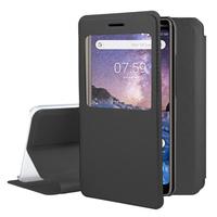 "Nokia 7 Plus 6.0"" (non compatible Nokia 7 5.2""): Etui View Case Flip Folio Leather cover - NOIR"