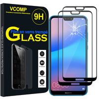 """Huawei P20 Lite/ Nova 3e 5.84"""" (non compatible Huawei P20/ P20 Pro): Lot / Pack de 2 Films de protection d'écran Verre Trempé"""