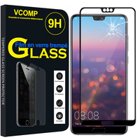 """Huawei P20 Pro 6.1"""" (non compatible Huawei P20/ P20 Lite): 1 Film de protection d'écran Verre Trempé"""