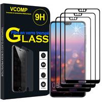 """Huawei P20 Pro 6.1"""" (non compatible Huawei P20/ P20 Lite): Lot / Pack de 3 Films de protection d'écran Verre Trempé"""