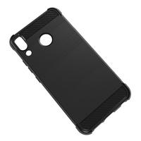 """Asus Zenfone 5 ZE620KL/ Zenfone 5z ZS620KL 6.2"""" (2018): Coque Housse Silicone Souple en Fibre de Carbone Brossé motif TPU Case - NOIR"""