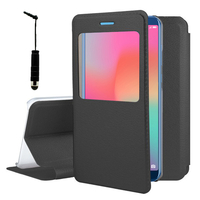 """Huawei Honor View 10 5.99""""/ Honor V10: Etui View Case Flip Folio Leather cover + mini Stylet - NOIR"""