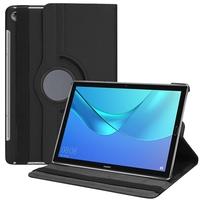 """Huawei MediaPad M5 10/ M5 10 Pro 10.8"""": Accessoire Etui Housse Coque avec support Et Rotative Rotation 360° en cuir PU - NOIR"""