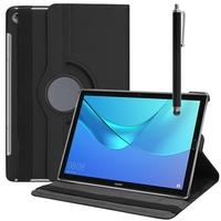 """Huawei MediaPad M5 10/ M5 10 Pro 10.8"""": Accessoire Etui Housse Coque avec support Et Rotative Rotation 360° en cuir PU + Stylet - NOIR"""
