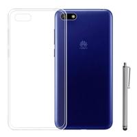 """Huawei Y5 (2018)/ Y5 Prime (2018)/ Honor 7s 5.45"""": Accessoire Housse Etui Coque gel UltraSlim et Ajustement parfait + Stylet - TRANSPARENT"""