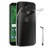 """Motorola Moto G6 5.7"""" (non compatible G6 Plus 5.9""""/ G6 Play 5.7""""): Accessoire Housse Etui Coque gel UltraSlim et Ajustement parfait + mini Stylet - TRANSPARENT"""