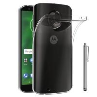 """Motorola Moto G6 5.7"""" (non compatible G6 Plus 5.9""""/ G6 Play 5.7""""): Accessoire Housse Etui Coque gel UltraSlim et Ajustement parfait + Stylet - TRANSPARENT"""