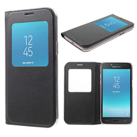 "Samsung Galaxy J2 Pro (2018) SM-J250F/ Galaxy Grand Prime Pro (2018) 5.0"": Etui View Case Flip Folio Leather cover - NOIR"