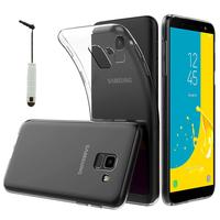 """Samsung Galaxy J6 (2018)/ On6 (2018) 5.6"""" J600F/DS/ J600G/DS: Accessoire Housse Etui Coque gel UltraSlim et Ajustement parfait + mini Stylet - TRANSPARENT"""