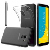 """Samsung Galaxy J6 (2018)/ On6 (2018) 5.6"""" J600F/DS/ J600G/DS: Accessoire Housse Etui Coque gel UltraSlim et Ajustement parfait + Stylet - TRANSPARENT"""