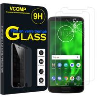 """Motorola Moto G6 5.7"""" (non compatible G6 Plus 5.9""""/ G6 Play 5.7""""): Lot / Pack de 2 Films de protection d'écran Verre Trempé"""