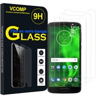 """Motorola Moto G6 5.7"""" (non compatible G6 Plus 5.9""""/ G6 Play 5.7""""): Lot / Pack de 3 Films de protection d'écran Verre Trempé"""