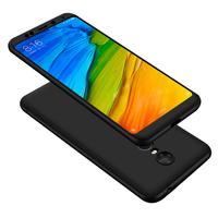 """Xiaomi Redmi 5 Plus 5.99"""": Coque de protection intégrale 360° Avant Et Arrière Ultra Mince Ultra Léger avec Verre Trempé pour l'Ecran - NOIR"""