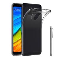 "Xiaomi Redmi 5 Plus 5.99"": Accessoire Housse Etui Coque gel UltraSlim et Ajustement parfait + Stylet - TRANSPARENT"
