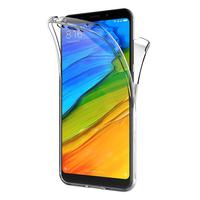 """Xiaomi Redmi 5 Plus 5.99"""": Coque Housse Silicone Gel TRANSPARENTE ultra mince 360° protection intégrale Avant et Arrière - TRANSPARENT"""