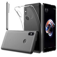 """Xiaomi Redmi Note 5/ Redmi Note 5 Pro 5.99"""": Accessoire Housse Etui Coque gel UltraSlim et Ajustement parfait + Stylet - TRANSPARENT"""