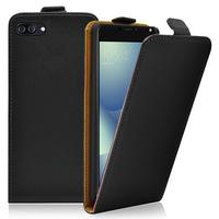 """Asus Zenfone 4 Max/ Max Pro/ Max Plus ZC554KL 5.5"""" (non compatible Zenfone 4 Max ZC520KL 5.2""""): Accessoire Housse Coque Pochette Etui protection vrai cuir à rabat vertical - NOIR"""