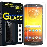"Motorola Moto E5/ Moto E (5th Gen) XT1944 5.7"" (non compatible Moto E5 Plus/ Moto E5 Play): 1 Film de protection d'écran Verre Trempé"