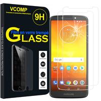 """Motorola Moto E5/ Moto E (5th Gen) XT1944 5.7"""" (non compatible Moto E5 Plus/ Moto E5 Play): Lot / Pack de 2 Films de protection d'écran Verre Trempé"""