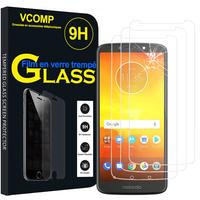 """Motorola Moto E5/ Moto E (5th Gen) XT1944 5.7"""" (non compatible Moto E5 Plus/ Moto E5 Play): Lot / Pack de 3 Films de protection d'écran Verre Trempé"""